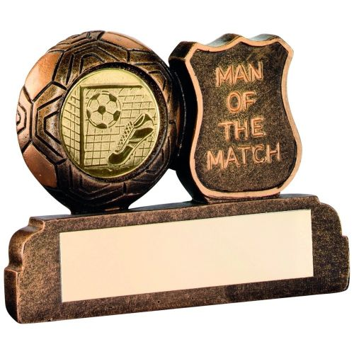 Bronze Gold Resin Football Man Of The Match Trophy - 2.5in