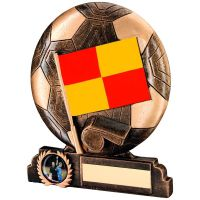 Bronze Gold Red Yellow Resin Linesman Trophy - 6.5in