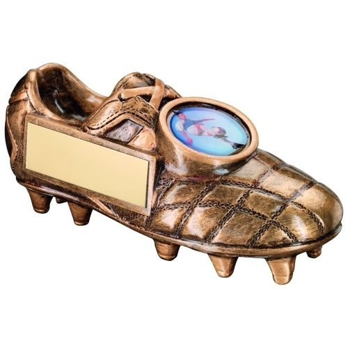 Bronze Gold Football Boot Trophy - 5 X 2.25in
