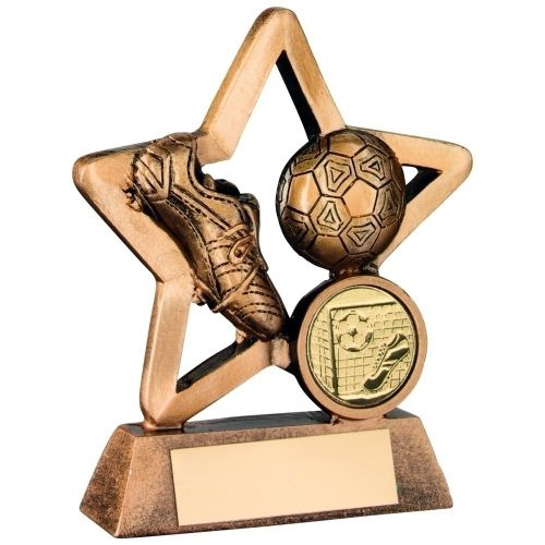 Bronze Gold Resin Football Mini Star Trophy - 4.25in