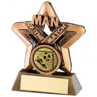 Bronze/Gold Man Of The Match Mini Star Trophy - 3.75in
