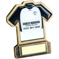 Bronze Gold Resin Football Shirt-C Trophy - 4.5in