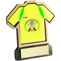 Bronze Gold Resin Football Shirt-D Trophy - 5in