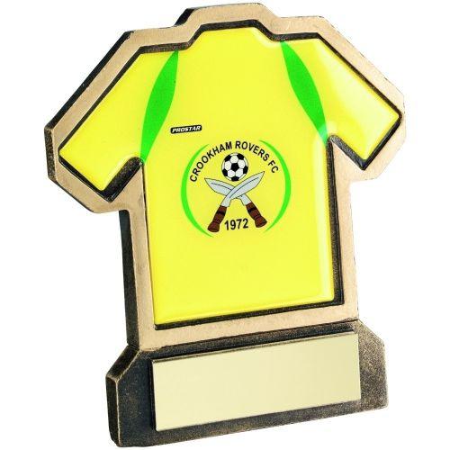 Bronze Gold Resin Football Shirt-D Trophy - 5in