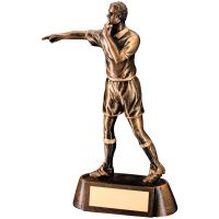 Bronze Gold Resin Referee Figure Trophy - 6.75in