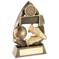 Bronze Gold Football Diamond Collection Trophy Award - 5in