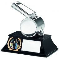 Silver Metallic Whistle Trophy - 4.25in (New 2014)