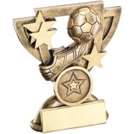 Bronze Gold Football Mini Cup Trophy Award Trophy - (1in Centre) 4.25in
