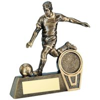 Bronze Gold Mini Male Football Figure Trophy 4in