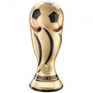 Players Player - Gold/Black Football Swirl Column Trophy Award - 11in