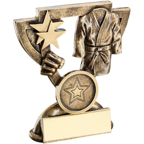 Bronze Gold Martial Arts Mini Cup Trophy Award Trophy - (1in Centre) 3.75in