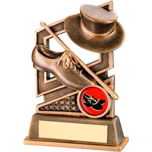 Bronze Gold Tap Dance Diamond Series Trophy - 5.25in
