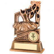 Bronze/Gold Ballet Diamond Series Trophy - 5.5in