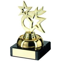 Gold Plastic And Marble Dancing Star Trophy - 3.75in