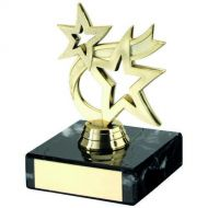 Gold Plastic And Marble Dancing Star Trophy - 4.25in