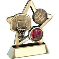 Bronze Gold Basketball Mini Star Trophy 4.25in