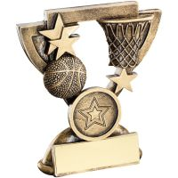 Bronze Gold Basketball Mini Cup Trophy Award Trophy - (1in Centre) 4.25in