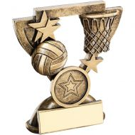 Bronze Gold Netball Mini Cup Trophy Award Trophy - (1in Centre) 4.25in
