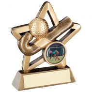 Bronze/Gold Hockey Mini Star Trophy 3.75in