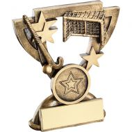Bronze/Gold Hockey Mini Cup Trophy - (1in Centre) 3.75in