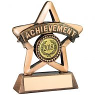 Bronze/Gold Resin Achievement Mini Star Trophy - 3.75in