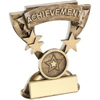 Bronze Gold Achievement Mini Cup Trophy Award Trophy - (1in Centre) 3.75in