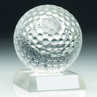 Clear Glass Golf Ball Nearest The Pin Trophy - 3.5in