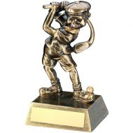 Bronze Gold Male Comic Golf Figure Trophy 5.5in