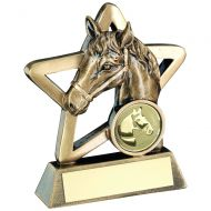 Bronze/Gold Horse Mini Star Trophy 4.25in