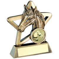 Bronze Gold Horse Mini Star Trophy 3.75in