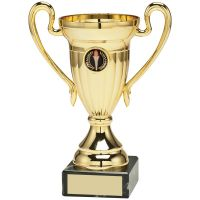 Gold Plastic Lined Cup Trophy Award Trophy - (1in Centre) 4.75in