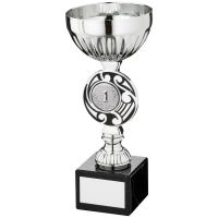 Silver Black Round Celtic Trophy - (1in Centre) 7.25in