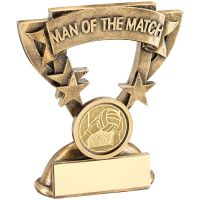 Bronze Gold Gold Man Of The Match Mini Cup Trophy Award With Gaelic Football Insert Trophy Award - 3.75in