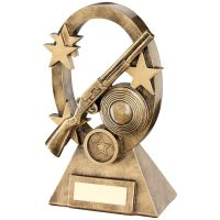 Bronze Gold Shooting Oval Stars Series Trophy - (1in Centre) 7.25in