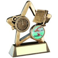 Bronze Gold Swimming Mini Star Trophy 4.25in