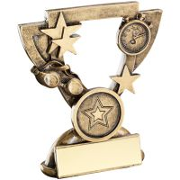Bronze Gold Swimming Mini Cup Trophy Award Trophy - (1in Centre) 4.25in