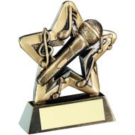 Bronze/Gold Music Mini Star Trophy 3.75in