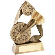 Bronze Gold Gold Darts Diamond Collection Trophy Award - 5.75in
