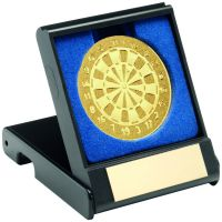 Black Plastic Box With Darts Insert - Gold - 3.5in