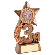 Leaf And Star Award Trophy Award With Athletics Insert - Bronze 3rd - 4.75in