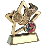 Bronze/Gold Athletics Mini Star Trophy 4.25in