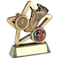 Bronze Gold Athletics Mini Star Trophy 4.25in