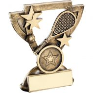 Bronze/Gold Squash Mini Cup Trophy - (1in Centre) 3.75in