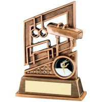 Bronze Gold Gymnastics Diamond Series Trophy - 5.25in