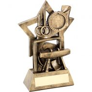 Bronze Gold Gymnastics On Star Backdrop Trophy - (1in Centre) 5.75in
