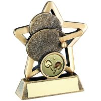 Bronze Gold Table Tennis Mini Star Trophy 3.75in