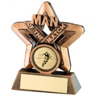 Bronze Gold Man Of The Match Mini Star Trophy - 3.75in