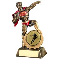 Bronze Gold Red Resin Generic and Hero and Award With Rugby Insert - 7.25in