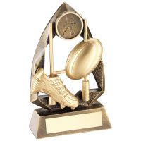 Bronze Gold Gold Rugby Diamond Collection Trophy Award - 5in