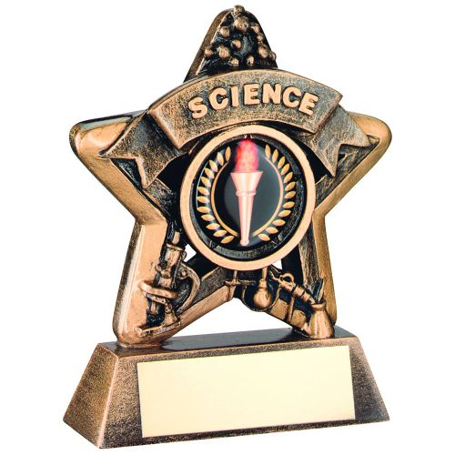 Bronze-Gold Science Mini Star Trophy - 3.75in (New 2014)